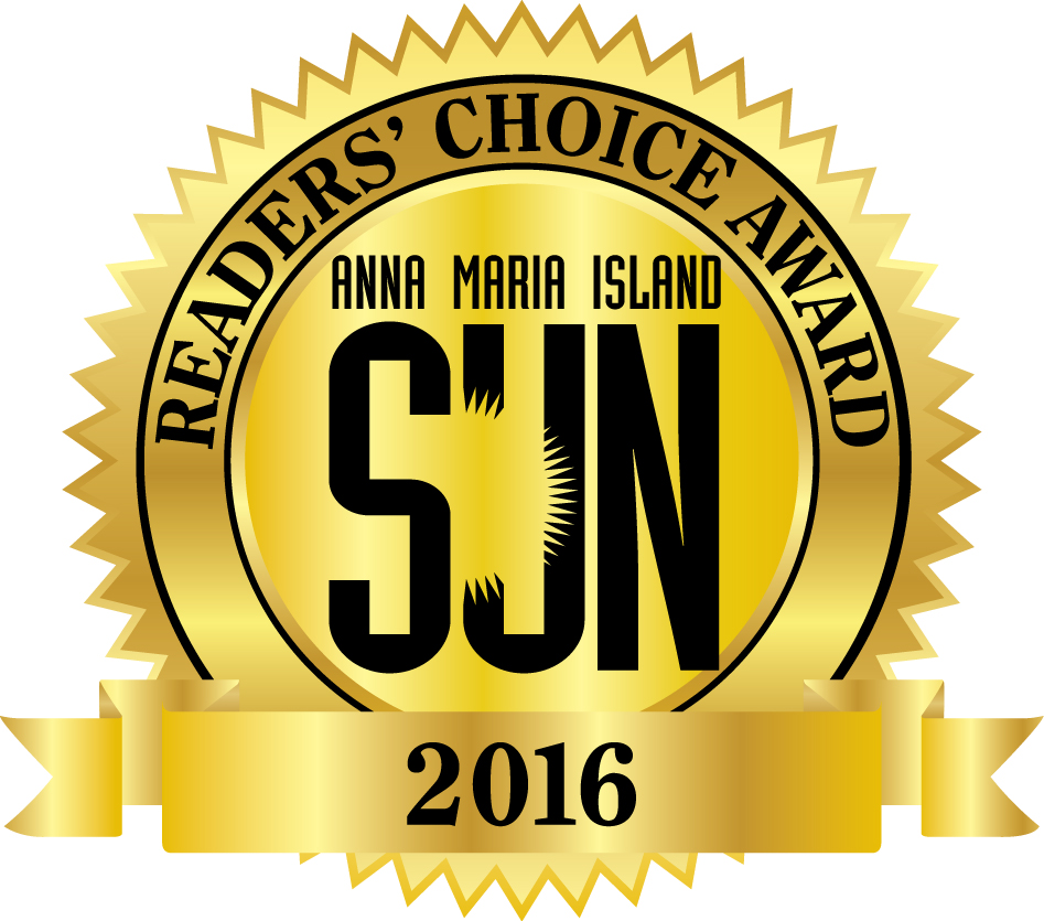 Reader's Choice Award from Anna Maria Island Sun 2016